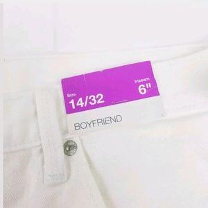 "Mossimo Supply Co. Shorts - Boyfriend 6"" Distressed Destroyed Denim Shorts"